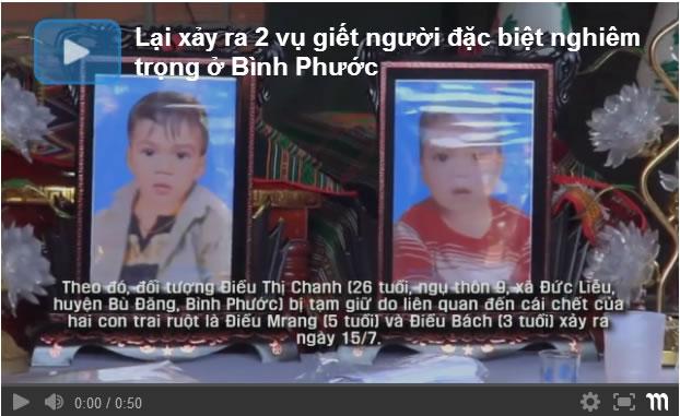 Tại Bình Phước lại tiếp tục  xảy ra thêm 2 vụ giết người đặc biệt nghiêm trọng